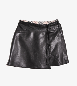 [중고] BURBERRYBottom - 버버리 레더 스커트Kids 110A / Color - Black