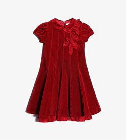 [중고] BON BON BLEUKids - Bon Bon Bleu 코튼 혼방 원피스Made In ItalyWomen XS / Color - Red