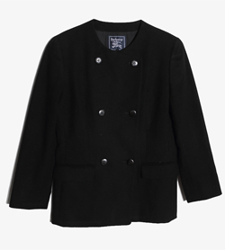 BURBERRY - 버버리 울 더블 자켓   Women S / Color - Navy