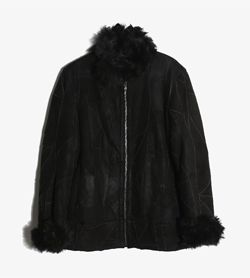 ORIGINAL SHEARLING - 오리지널 시어링 양가죽 무스탕 자켓   Made In Italy  Man S / Color - Black