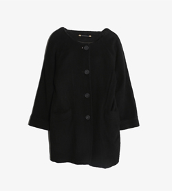 PIERRETTE B -  캐시미어 100% 카라리스 코트   Made In Switzerland  Women M / Color - Black