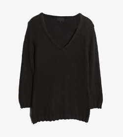 APC - 아페쎄 코튼 브이넥 니트   Made In Italy  Women S / Color - Charcoal
