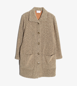 CORTINA - 코티나 울 폴리 트위드 코트   Made In Belgium  Women M / Color - Beige