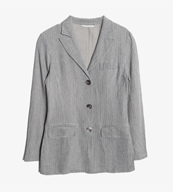 MAX&CO - 막스앤코 레이온 린넨 3버튼 자켓   Made In Italy  Women S / Color - Gray