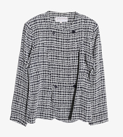SAMANTHA - 사만다 레이온 아세테이트 체크 자켓   Made In France  Women M / Color - Check