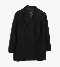 SISLEY - 시슬리 울 폴리 피코트   Made In Italy  Women XS / Color - Black