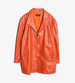 PERRARA -  이태리 양가죽 코트   Made In Italy  Man L / Color - Orange