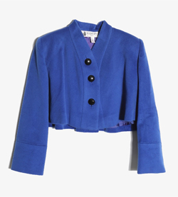 LANVIN - 랑방 울 크롭 자켓   Made In France  Women L / Color - Blue
