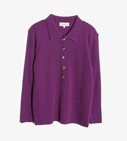 YVESSAINTLAURENT - 입생로랑 울 PK니트   Women L / Color - Purple