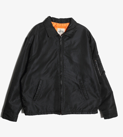 STUSSY - 스투시 폴리 MA-1자켓   Made In Usa  Man M / Color - Black