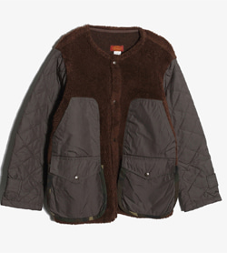 JPN -  코튼 폴리 배색 점퍼   Made In Italy  Man M / Color - Brown