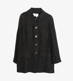 CIVIDINI - 시비디니 린넨 코튼 맥 코트   Made In Italy  Women M / Color - Charcoal