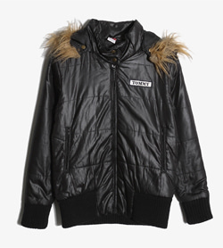 TOMMY GIRL - 타미걸 폴리 패딩 점퍼   Made In Usa  Women M / Color - Black