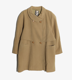 JPN -  울 캐시미어 더블 코트   Made In Italy  Women L / Color - Beige