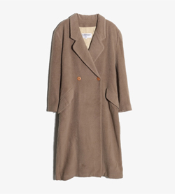 ERREUNO - 에레우노 울 더블 코트   Made In Italy  Women L / Color - Beige