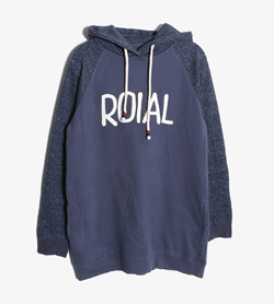 ROIAL -  코튼 후드티   Women M / Color - Navy