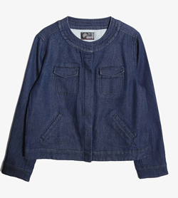 HK WORKS LONDON -  데님 카라리스 자켓   Women L / Color - Denim