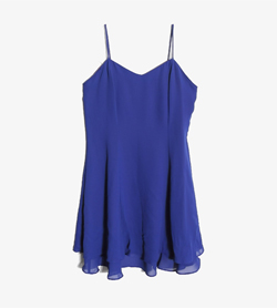 BOULEVARD DE PARIS -  폴리 슬립 원피스   Made In Usa  Women S / Color - Blue