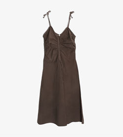 MAX&CO - 막스앤코 코튼 끈 원피스   Made In Italy  Women S / Color - Brown
