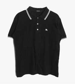 BURBERRY BLACK LABEL - 버버리 블랙라벨 코튼 Pk티셔츠   Man M / Color - Black