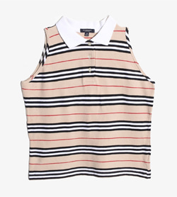 BURBERRY - 버버리 코튼 Pk티셔츠   Made In England  Women M / Color - Stripe