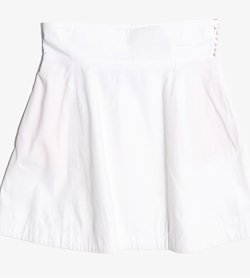 PAUL SMITH - 폴 스미스 코튼 하프 스커트   Made In Italy  Women L / Color - White