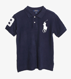POLO BY RALPH LAUREN - 폴로 랄프로렌 코튼 Pk티셔츠   Kids 8 / Color - Navy