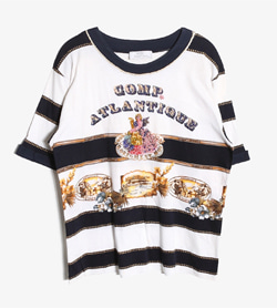 GOD GOLORY DAYS -  코튼 스트라이프 티셔츠   Made In Italy  Man M / Color - Stripe