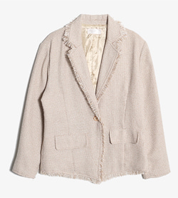 JPN -  폴리 컷오프 자켓   Women M / Color - Beige