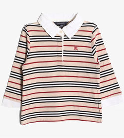 BURBERRY - 버버리 코튼 PK티셔츠   Kids 120 / Color - Stripe