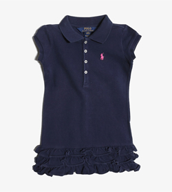POLO BY RALPH LAUREN - 폴로 랄프로렌 코튼 원피스   Kids 100 / Color - Navy
