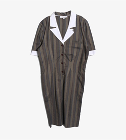 HERMILLE -  코튼 스트라이프 원피스   Made In Italy  Women L / Color - Stripe