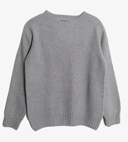 GENERAL SUPPLY - 제네럴 서플라이 울 라운드 니트   Made In Scotland  Women M / Color - Gray
