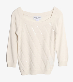 NATURAL BEAUTY BASIC - 네츄럴뷰티베이직 레이온 앙고라 니트   Women M / Color - Ivory