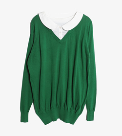JPN -  코튼 PK니트   Women FREE / Color - Green