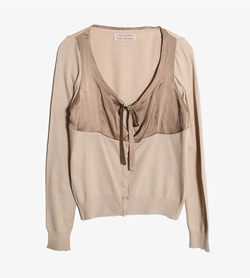 CLAUDIA CAMARLINGHI PER PINK MEMORIES -  울 레이온 가디건   Women M / Color - Beige
