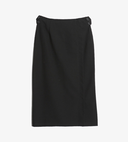 JPN -  울 폴리 스커트   Women 28 / Color - Black