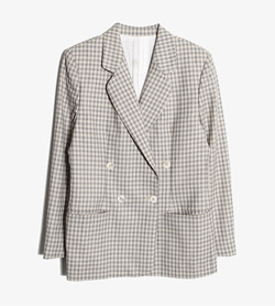 BURBERRY - 버버리 울 더블 자켓   Women M / Color - Check