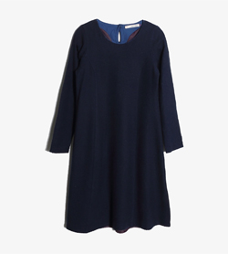 PALLAS PLACE -  울 라운드 원피스   Women S / Color - Navy