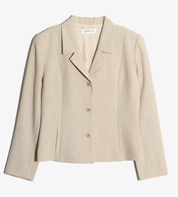APPROVE -  폴리 린넨 자켓   Women M / Color - Beige