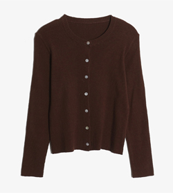 JPN -  울 라운드 가디건   Women L / Color - Brown