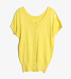 AKAGAWEAR -  린넨 가디건   Women M / Color - Yellow