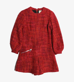 SONNERIE -  울 혼방 논카라 원피스   Women S / Color - Red