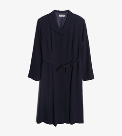 BARI BARI -  폴리 랩 원피스   Women Free / Color - Navy