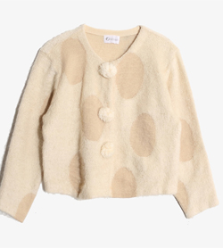 VALLIS MALL -  울 나일론 방울 가디건   Women M / Color - Beige