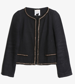 EDWARD ACHOUR PARIS - 에드워드 아슈르 파리 코튼 논카라 자켓   Made In France  Women S / Color - Black
