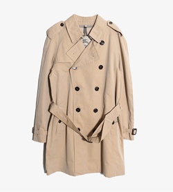 BURBERRY - 버버리 코튼 트렌치 코트   Made In England  Unisex M / Color - Beige
