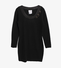 STUDIO 0001 FERRE - 스튜디오 페레 울 아크릴 원피스   Made In Italy  Women L / Color - Black