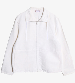 MAX&CO - 막스앤코 코튼 린넨 집업 자켓   Made In Italy  Women M / Color - White