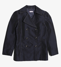 MAX&CO - 막스앤코 폴리 아세테이트 피 코트   Made In Italy  Women M / Color - Navy